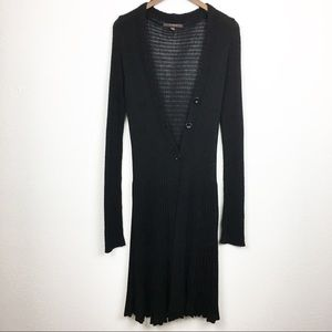 | Fever | Black Knit Button Front Duster Cardigan